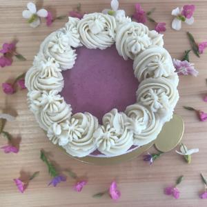 ベリーとマンダリンのケーキ
