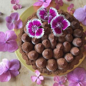 チョコとヘーゼルナッツのタルト