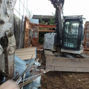 新潟市南区の平屋 解体工事開始