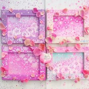 桜咲く 花びら立体オブジェ
