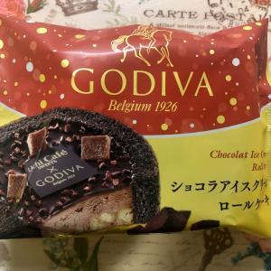 【新発売】Uchi Cafe' SWEETS×GODIVA ショコラアイスクリームロールケーキ