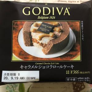【新発売】Uchi Cafe' SWEETS×GODIVA キャラメルショコラロールケーキ
