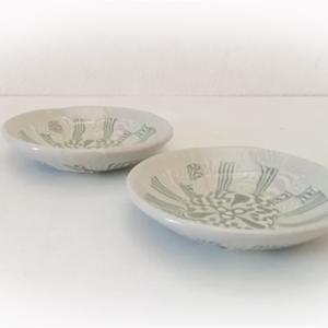練り込み陶器。