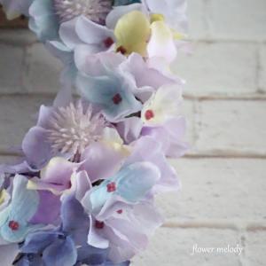ライトパープルの紫陽花リース〔M〕