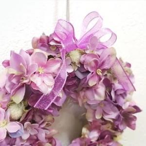 紫陽花のミニリース。