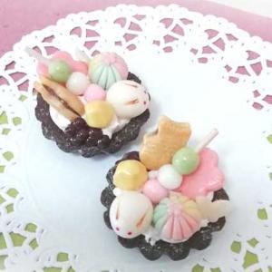 ミニチュア粘土・和菓子タルト。