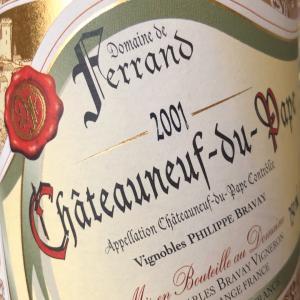 Chateauneuf du Pape '01 de Ferrand