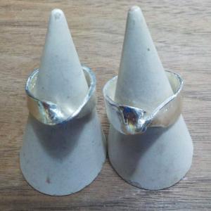 昨日の体験のお客様は、リングを 銀とガラスのアクセサリー教室工房銀 岡山県赤磐市