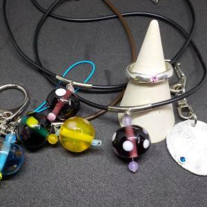 昨日の体験のお客様は、シルバーアクセサリー手作り体験 銀とガラスのアクセサリー教室工房銀 岡山県赤磐市