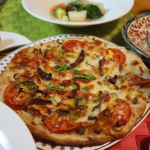 久しぶりにピザ