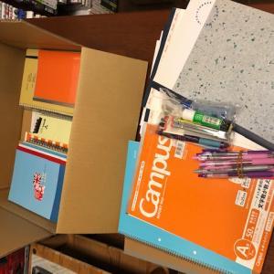 【山内 睦子様】より51個の文房具が届きました