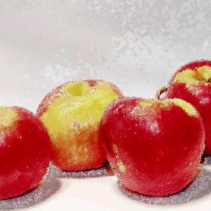 油絵風のリンゴ