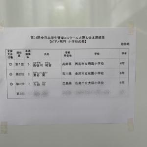 学生コンクール大阪大会ピアノ本選