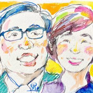 プラチナ世代応援アートNo.003ご両親の似顔絵