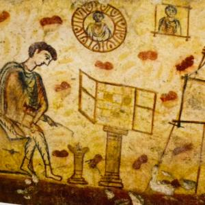 2000年前の画家のアトリエ