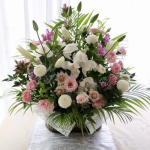 ふんわりピンクのお供え花
