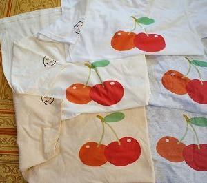 淡色のTシャツにプリントして発色の違いを検証してみた