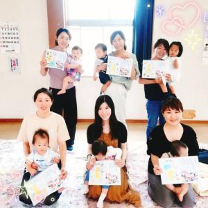 子育ちサークル♡5ヵ月ぶりの成長に涙…【足形アートも楽しみました!】