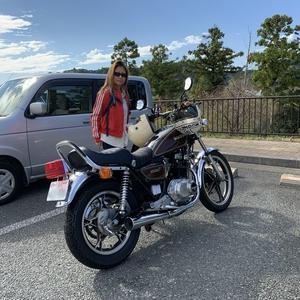 秋晴れオートバイ♪