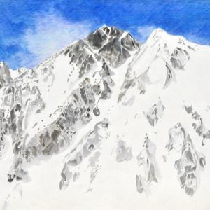 3月の五龍岳