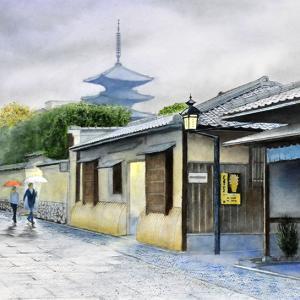 雨の京都石塀小路