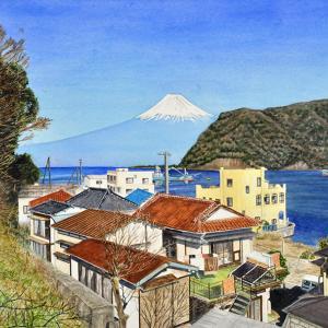 富士と暮らす港町