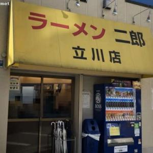 ラーメン二郎 立川店/麺少なめぶた増し (850円)