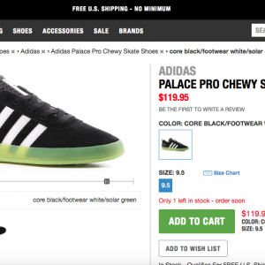 adidas skateboarding Palace Pro Chewy Skate Shoes