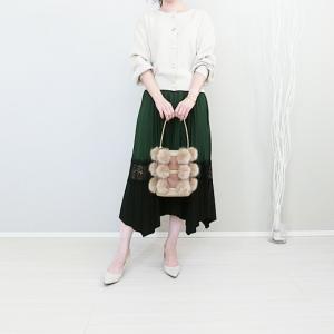 しまむら上品カーデ×DHOLICデザインスカートで華やかコーデ!