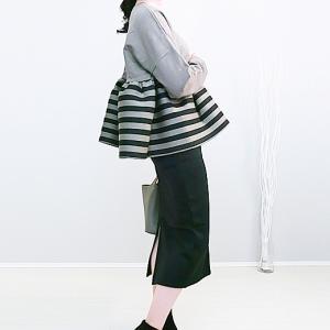 Myu裾フレアトップスとREAL STYLE裏起毛スカートで大人可愛い旬コーデ!