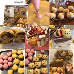 Rena* sweets3月『プーさんマカロン』『プーさんカラーのマーブルベーグル』