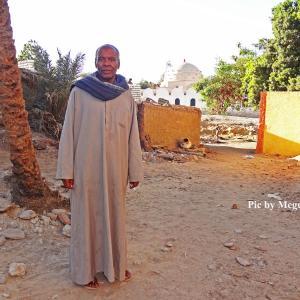 ヌビア人の住む島&日干レンガの家並み in エジプト