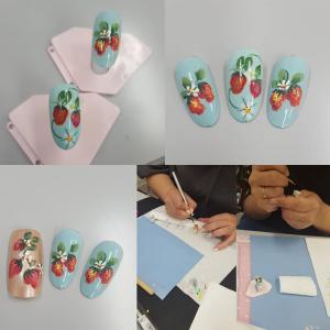 薔薇とイチゴのネイルアートとセルフジェルネイル体験レッスン