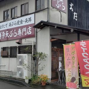 博多天ぷら専門店織田 とり天定食 ラッキー★エビ7丼