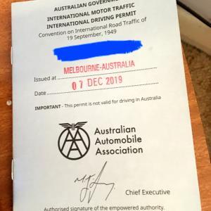オーストラリアで国際運転免許を取る
