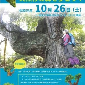 【京都府】上宮津・杉山エコミュージアム完成記念イベント~天然杉の森を歩こう!令和元年10月26日