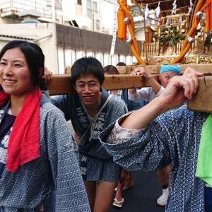 区内各地で秋祭り♪【糀谷祭御輿パレード】願いが届き晴れ間が!素晴らしい三社パレードでした!
