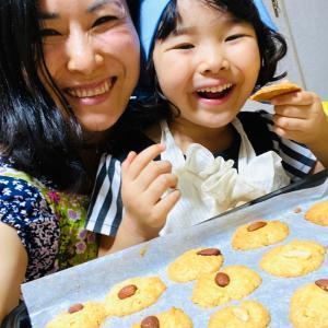 【おうち時間の4連休 かのん蜂蜜大好き♡親子クッキング 4歳でも作れる蜂蜜クッキーの作り方】