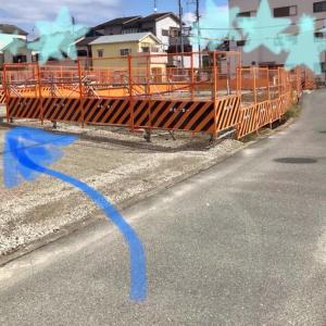 イオンタウン工事による教室までの迂回路の写真