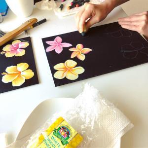 ハワイアンチョークアート基礎コース、今日のおやつは