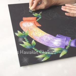 ハワイアンチョークアートでイプを描く:応用コース