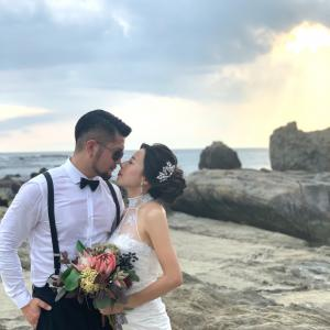美人花嫁さんの海ロケ前撮り