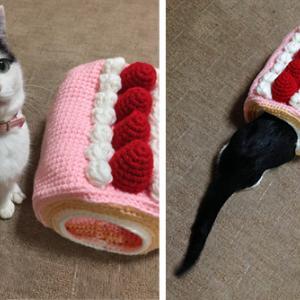 掲載本のお知らせ「手編みのかわいい猫ハウス」
