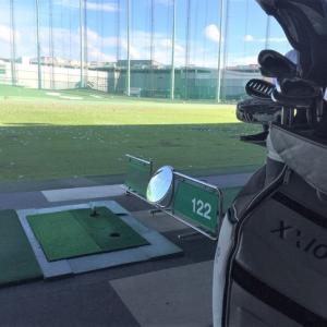 ゴルフ練習。