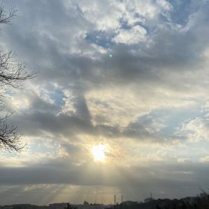 天使の梯子と虹