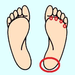 かかとと足の指間を整膚(ひっぱって)して足のだるさ対策に