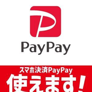 PayPay使えます!!