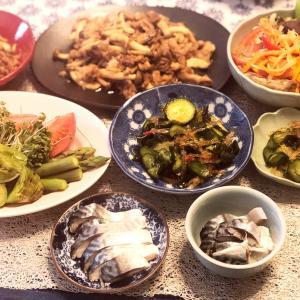 ある日の食卓9.6と天ぷらのまきの