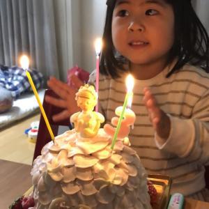 娘3歳誕生日