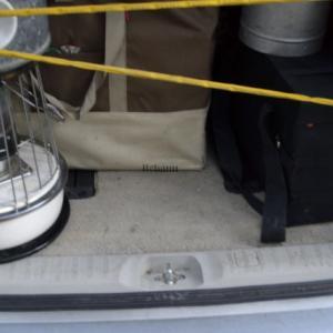 20kgの巨大テントを40×40cm の空き空間に車載できるのか?